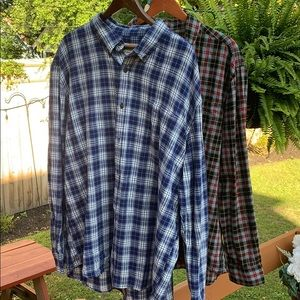 JCPenney St. John's Bay men plaid outdoor shirts